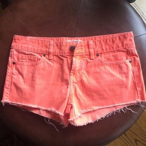 PINK VS Orange Cut-Off Shorts
